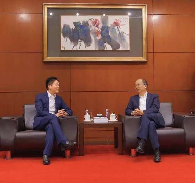 刘强东与易会满会晤 京东金融与工商银行启动全面合作