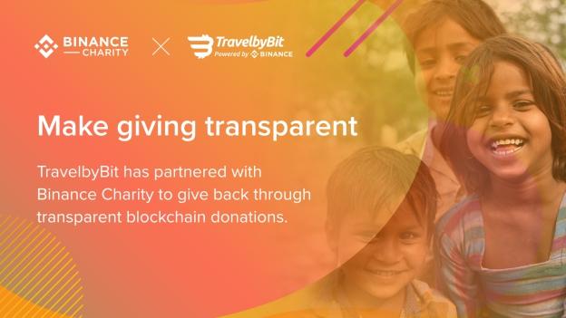 """币安慈善携手TravelbyBit推出""""预定即捐赠""""区块链慈善项目"""