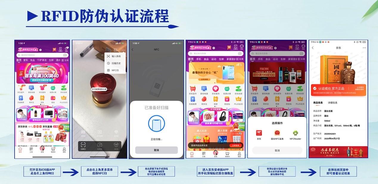 京东618推出RFID防伪认证平台 对多品类商品进行防伪溯源认证