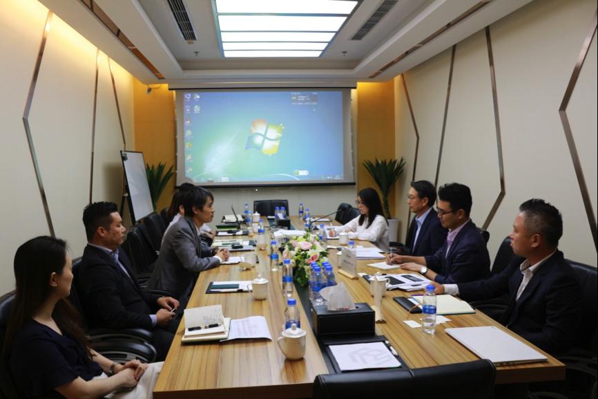 韩国金融科技巨头高管到访圣盈信集团